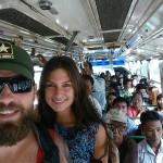 Busfahrt in Yangon