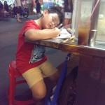 Beim lernen eingeschlafen :)